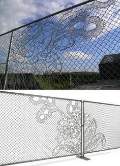 Lace fence from Demakersva