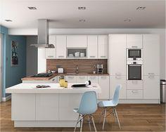 Altino White Kitchen | An Altino white high gloss kitchen de… | Diy Kitchens | Flickr