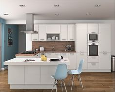 Altino White Kitchen | An Altino white high gloss kitchen de… | Diy Kitchens | Flickr