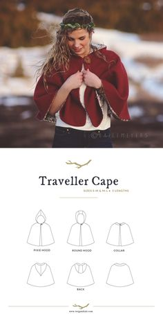 The Traveller Cape pattern from Twig and Tale.