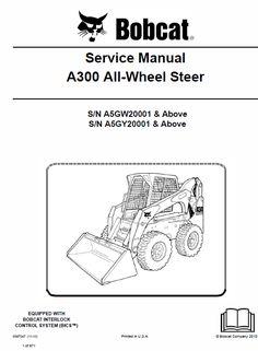 32 popular skid steer loader images heavy equipment, heavybobcat a300 all wheel steer skid steer loader service manual