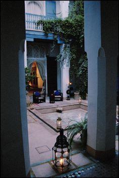 Morocco , Marrakech A courtyard (Riad)2003