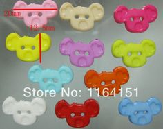 Mixed Nylon Cartoon Monkey Head Button 2 Holes Sewing Buttons for garment Scrapbooking Accessory 200 Pcs  12.5*20mm  sk0029 $5.22