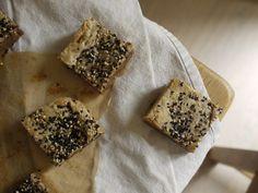 Milk Chocolate Tahini Blondies - The Little Loaf