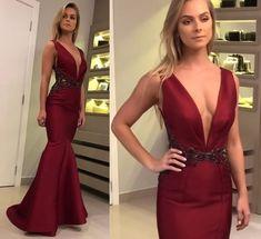 vestido de festa longo marsala e vestido de festa longo vinho