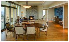 The beautiful condos at the Hotel Indigo Asheville NC