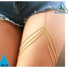 Bacak zinciri şort ve eteklerin altından bacağınıza uzanıyor.Çok estetik!seksi.  www.modafingo.com