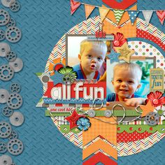 #papercraft #scrapbook #layout. All Fun - Scrapbook.com