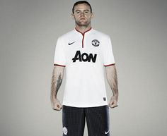 Wayne Rooney in the 2012-13 Manchester United Away Shirt