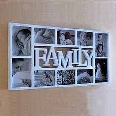 Inglés Palabra Familia Blanco ABS pared Photo Frame Collection Set of 10 – USD $ 49.99