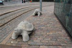 Turtle sculptures Helsinki Finland 2014 Helsinki, Finland, Garden Sculpture, Turtle, Sculptures, Outdoor Decor, Turtles, Tortoise, Sculpture