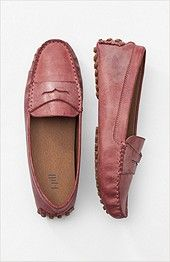 burnished leather driving mocs