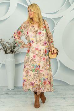 Sukienka Ermenesa Spring Collection, Paisley, Dresses With Sleeves, Long Sleeve, Fashion, Tunic, Moda, Sleeve Dresses, Long Dress Patterns