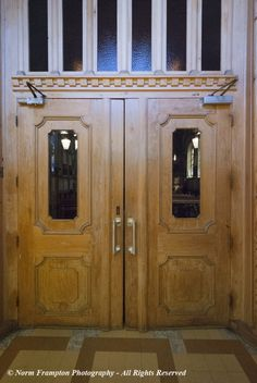 Inner doors leading into the  Chapel of Our Lady of Good Help, the oldest church on the island of Montréal.