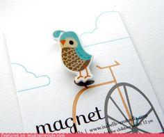 cute kawaii stuff - Squee Quail Magnet