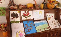 Mit natürlichen Materialien zaubern die Kinder erstaunliche Kunstwerke.