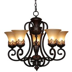 Max+60W+Chandelier+,++Vintage+/+Country+/+Island+Painting+Feature+for+Candle+Style+MetalLiving+Room+/+Bedroom+/+Dining+Room+/+Kids+Room+/+–+USD+$+255.99