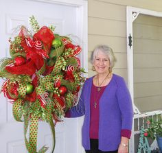 "Nancy just filmed a brand new video on ""How to Make a Deco Mesh Wreath""! It is so easy -- Nancy guarantees that you will be able to make a beautiful wreath also! Downloadable / Viewable Video Price is $29.97 http://www.LadybugWreaths.com"