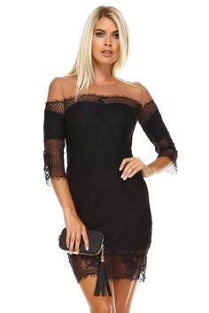 Women's Sheer Mesh Lace Dress