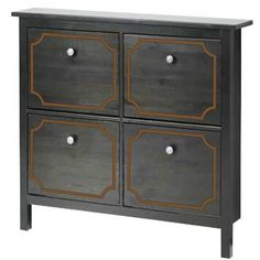 O'verlays Anne Kit for Ikea Hemnes 4 drawer shoe cabinet. A classic in home decor that works with any style of decorating. An easy diy furniture makeover.