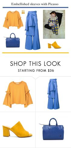 """""""Make a Statement: Embellished Sleeves with Picasso"""" by french-fashion-addict ❤ liked on Polyvore featuring MANGO, Rosie Assoulin, Maryam Nassir Zadeh and Louis Vuitton"""