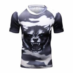 dcf4ce5bc3041d Spider venom 3D Printed T-shirts Men Compression Shirt Short Sleeve Fitness  T Shirt Male