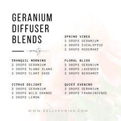 Diffuser Blends using Geranium Essential Oil