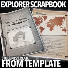 Explorer Scrapbook Project (Age of Exploration) History Lesson Plans, Social Studies Lesson Plans, World History Teaching, World History Lessons, Book Projects, Lessons For Kids, Microsoft Word, Opportunity, Scrapbook