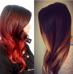red ombre hair pinterest - Google Search