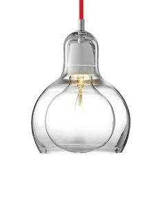 Luminária Mega Bulb SR 2, fio vermelho