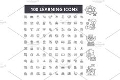 Outline Illustration, Certificate Templates, Magazine Template, Line Icon, Symbols, Learning, Icons, Studying, Teaching