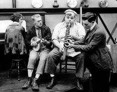 "Roscoe ""Fatty"" Arbuckle, Buster Keaton, Al St. John, Alice Lake in ""The Cook"" Paramount-Arbuckle, 1918 Hollywood Actor, Hollywood Stars, Classic Hollywood, Silent Comedy, Silent Film, Roscoe Arbuckle, James Agee, Buster Keaton, Harold Lloyd"