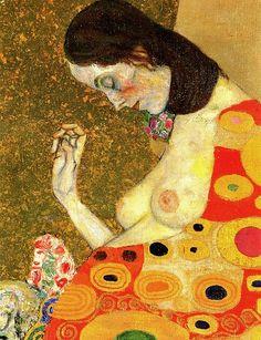 Gustav Klimt Hoffnung, Detail