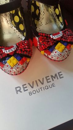 Lego Tattoo Comic Book Inspired Alternative Wedding Shoes Created By Reviveme Boutique