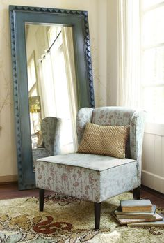 The back of this handcrafted chair looks good, too—show it off with a wall mirror