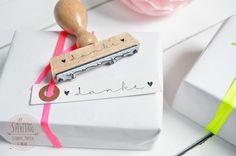 Sprüche & Slogans - Stempel danke - ein Designerstück von DerkleineSperling-Stempel bei DaWanda