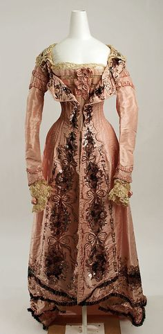 Negligée  Callot Soeurs  (French, active 1895–1937)  Date: 1898–1902 Culture: French Medium: silk Dimensions: Length at CF: 41 in. (104.1 cm) Length at CB: 63 in. (160 cm) Width at Bottom: 114 in. (289.6 cm) Credit Line: Gift of Orme Wilson and R. Thornton Wilson, in memory of their mother, Mrs. Caroline Schermerhorn Astor Wilson, 1949 Accession Number: 49.3.22  This artwork is not on display