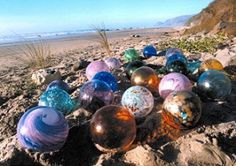 Lincoln City, Oregon. The town started hiding glass-blown floats in 2000, we went and found one, and now they have ever since then hiding them but with starfish, sand-dollars, and crabs. It's really cool looking for them.