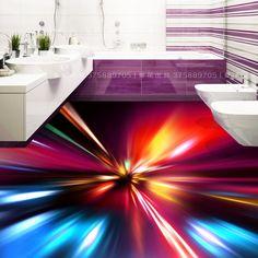 Modern floor art custom floor photo re-cool glare radiance waterproof self-adhesive flooring 3d Floor Art, 3d Floor Painting, Bathroom Floor Wallpaper, Bathroom Flooring, Cheap Wallpaper, Lit Wallpaper, 3d Flooring, Painted Floors, Adhesive