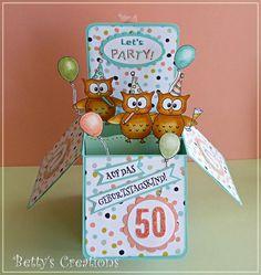 Pop Up Box Card zum 50. - Bettys-creations