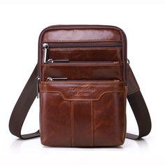 Famosa marca gold coral genuino bolsas de mensajero de cuero para hombres  bolsos de hombro paquete b4a98556f4ce6