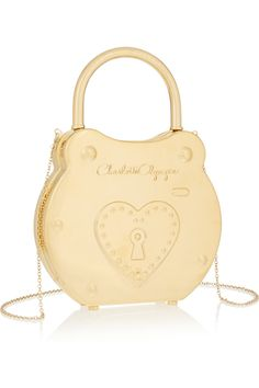 Charlotte Olympia ~ Chastity gold-tone clutch