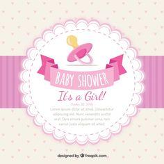 Invitación de bienvenida del bebé niña