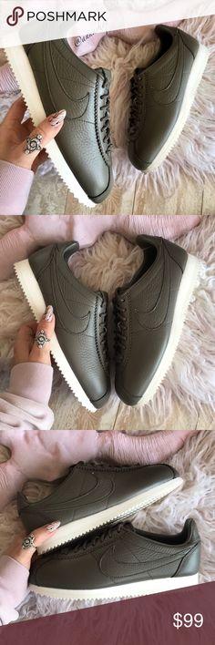 Nike Cortez Leather Caja Negro  Blanco Nuevo Con Caja Leather Nike Zapatos Zapatillas 90a66e