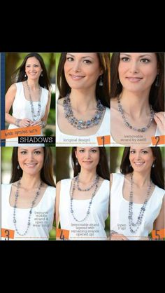 Shadows by Premier! so many different ways to wear 1 necklace!!