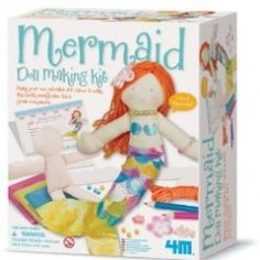 This fun craft kit includes a soft bodied doll and craft doll making kit. Now you can hug, play with and sleep next to your very own homemade mermaid doll. Give her a name and make it official with her own birth certificate. No pins and needles are requir Arts And Crafts Kits, Craft Kits, Face Template, Mermaid Dolls, Mermaid Gifts, New Dolls, Mo S, Online Craft Store, Educational Toys