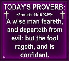Proverbs 14:16 KJV