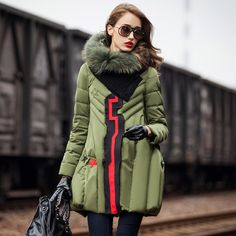 Günstige MOHNASS 2015 Winter parka Frau Duck Down Elegante