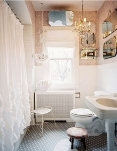 feminine and beautiful, can be done in a rental bathroom with no problem.