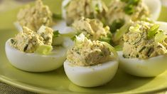 Deviled eggs are a great picnic snack that your children will be asking you to make more of! They are incredibly quick to make and you can experiment with your Picnic Snacks, Classic Recipe, Deviled Eggs, Fresh Herbs, Experiment, Lunch Box, Forget, African, Traditional